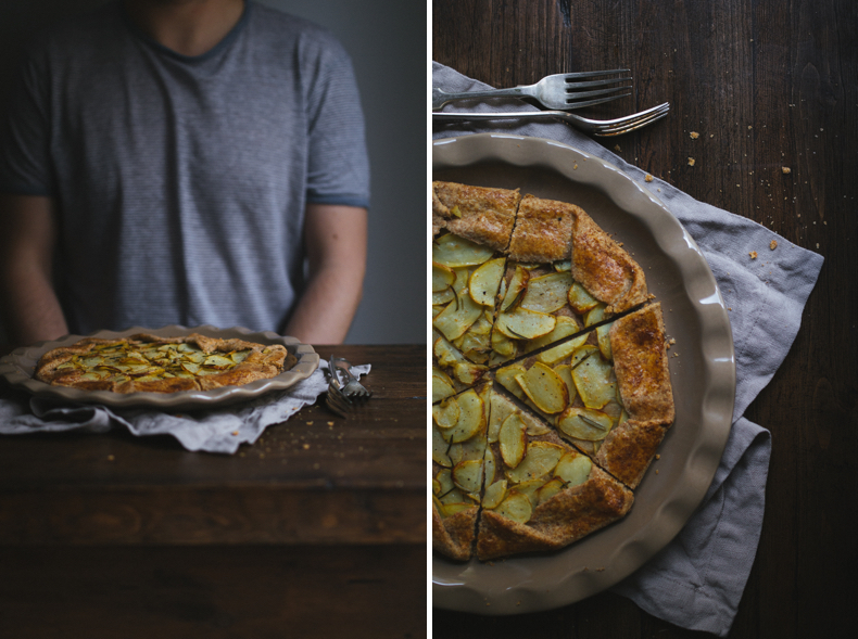 Potatoe-Rosemary-Galette