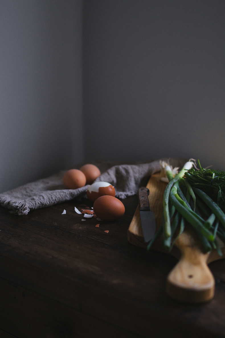 Hand Pies with Eggs and Greens by Tanya Balyanitsa (more seasonal recipes on Honeytanie.com)