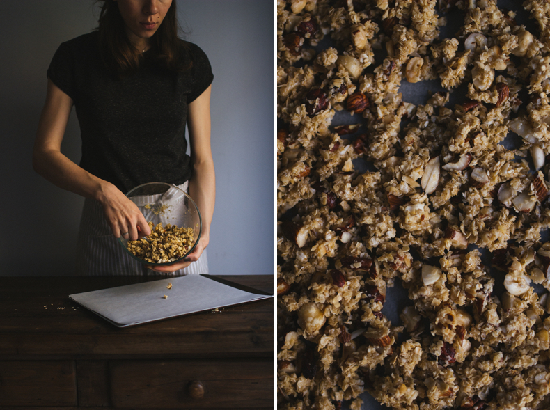 Nutty Basic Granola. Recipe and photograpy by Tanya Balyanitsa (more on Honeytanie.com)